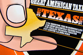 Todd Snider + GAT Texas Tour Poster
