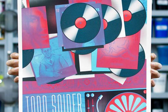 Todd Snider 'Vinyl Records' Aladdin Theatre Poster