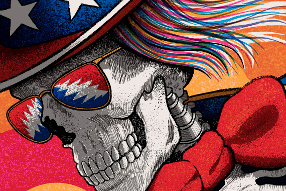 Close up of The Dead's Uncle Sam character